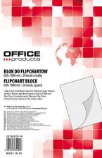 Blok do flipchartów OFFICE PRODUCTS, kratka, 65x100cm, 20 kart., biały
