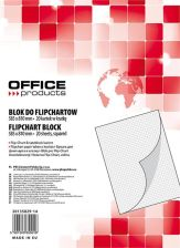 Blok do flipcharta OFFICE PRODUCTS, kratka, 58,5x81cm, 20 kart., biały