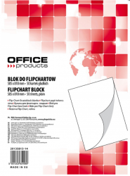 BLOK DO FLIPCHARTA OFFICE PRODUCTS, GŁADKI BIAŁY (50)