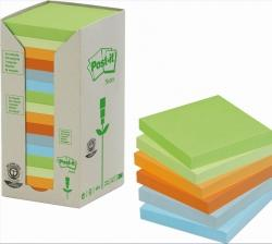 Bloczki samoprzylepne 3M POST-IT® 654-1RPT 76x76 Mix 2400k